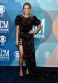 Carrie Underwood attends the 55th Academy of Country Music Awards at the Bluebird Cafe in Nashville, Tennessee