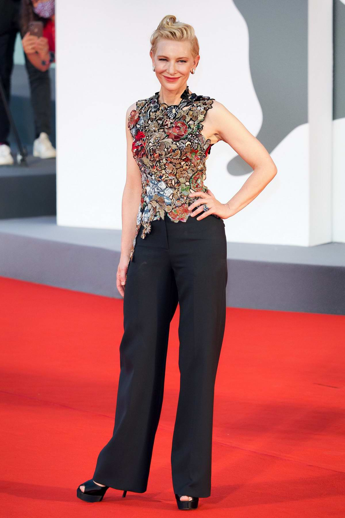 Cate Blanchett attends the Opening Ceremony and 'Lovers' Premiere during the 77th Venice Film Festival in Venice, Italy