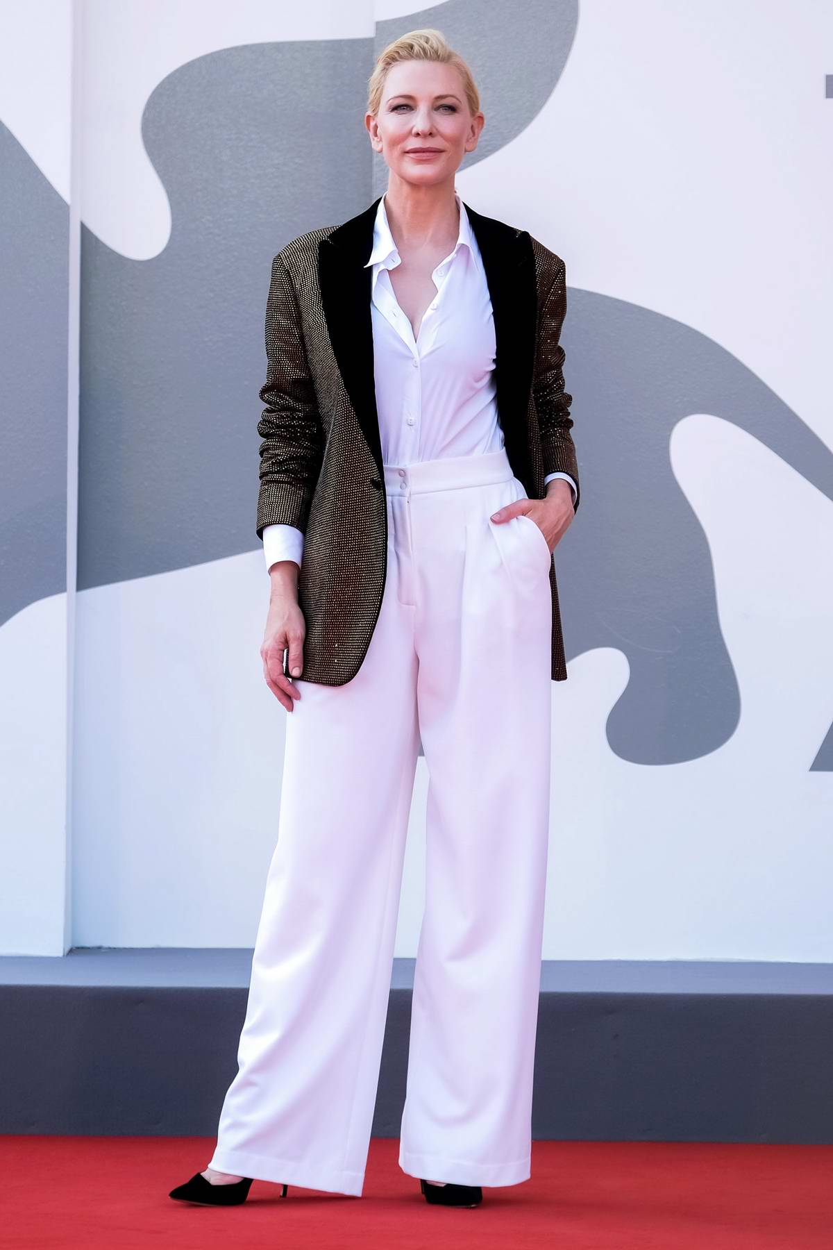 Cate Blanchett attends the Premiere of 'Khorshid' during the 77th Venice Film Festival in Venice, Italy