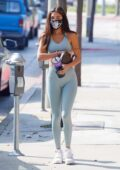 Chantel Jeffries puts on a curvy display while heading to the gym in West Hollywood, California