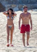 Chantel Jeffries stuns in a printed bikini as she hits the beach with boyfriend Andrew Taggart in Cabo San Lucas, Mexico