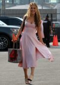 Chrishell Stause looks pretty in pink as she heads to the DWTS studio in Los Angeles