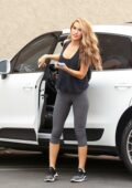 Chrishell Stause shows off her toned legs in leggings at the DWTS studio in Los Angeles