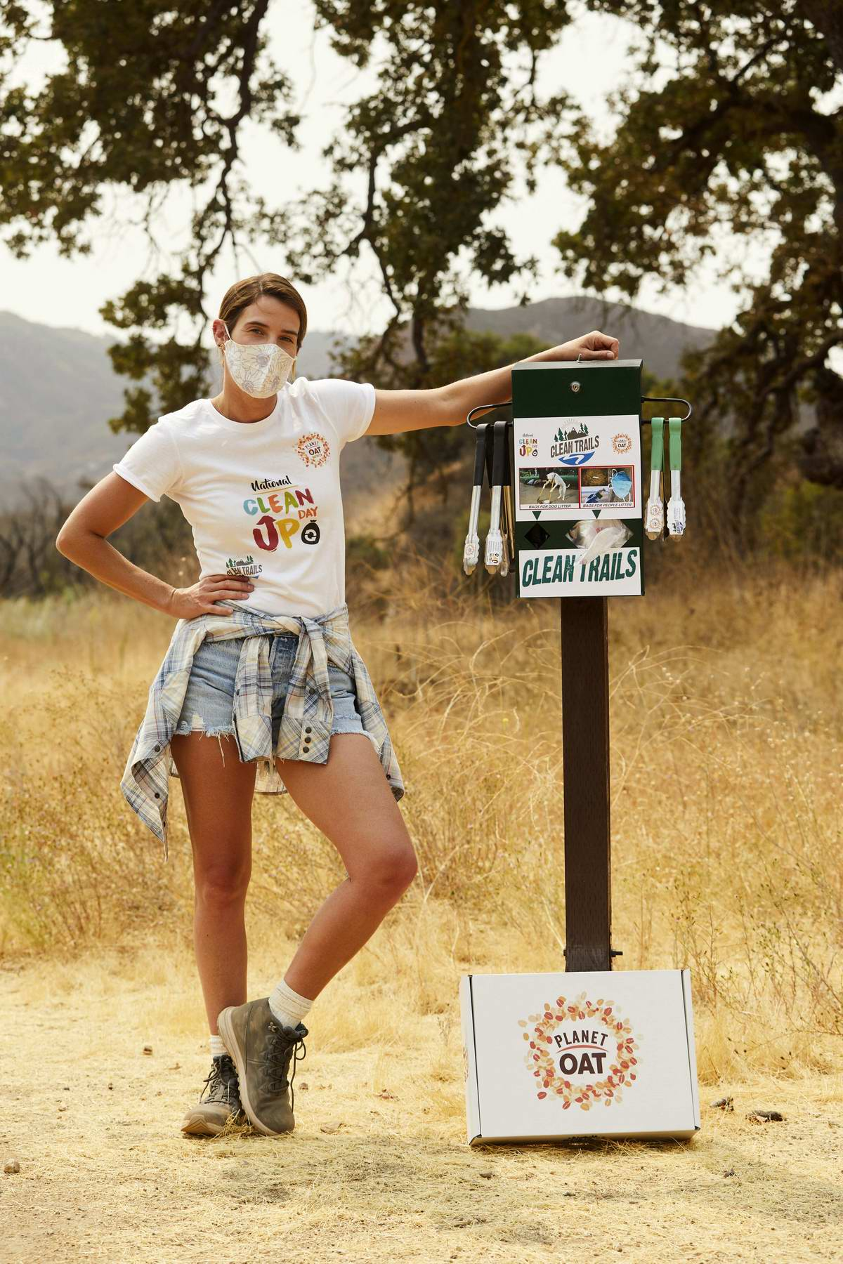 Cobie Smulders celebrates the launch of the Planet Oat Project in Calabasas, California