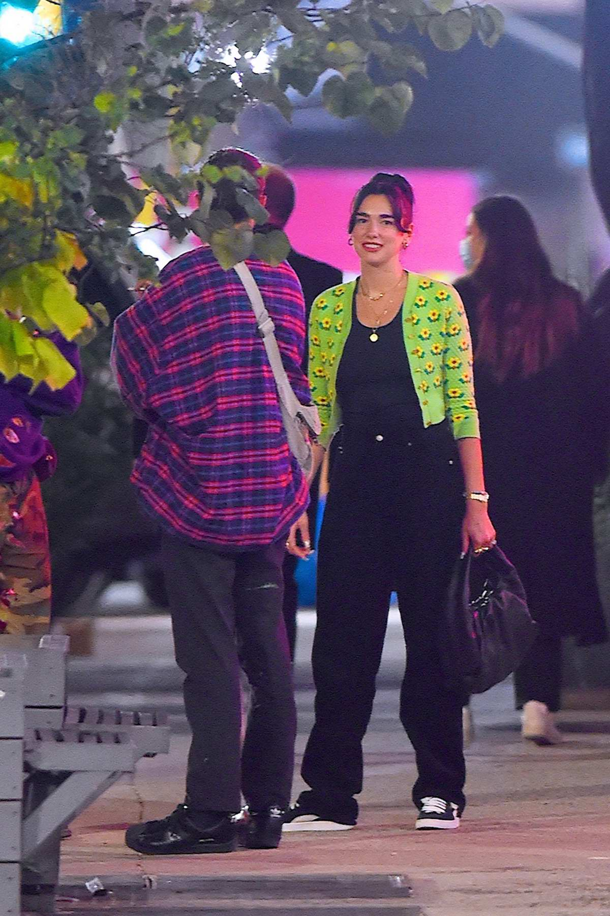 Dua Lipa and Anwar Hadid step out for dinner and drinks with a friend in New York City