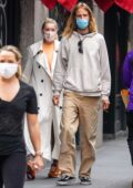 Elsa Hosk steps out for a stroll with her boyfriend Tom Daly in New York City