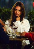 Emily Ratajkowski enjoys a romantic dinner with husband Sebastian Bear-McClard in New York City