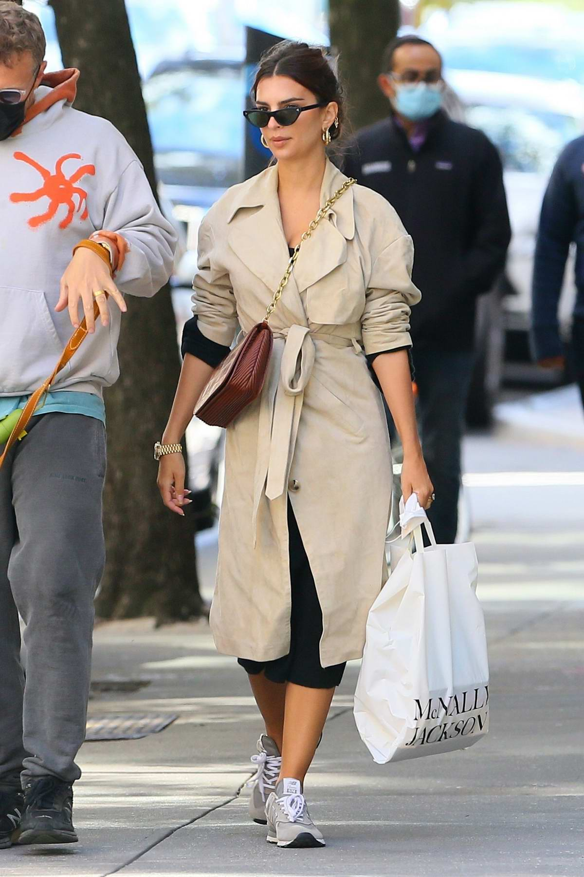 Emily Ratajkowski steps out to lunch with husband Sebastian Bear-McClard in New York City