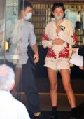 Emma Corrin seen leaving her hotel with a mystery man during the 77th Venice Film Festival in Venice, Italy