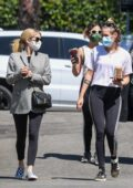 Emma Roberts and Kristen Stewart step out for coffee with a group of friends in Los Angeles