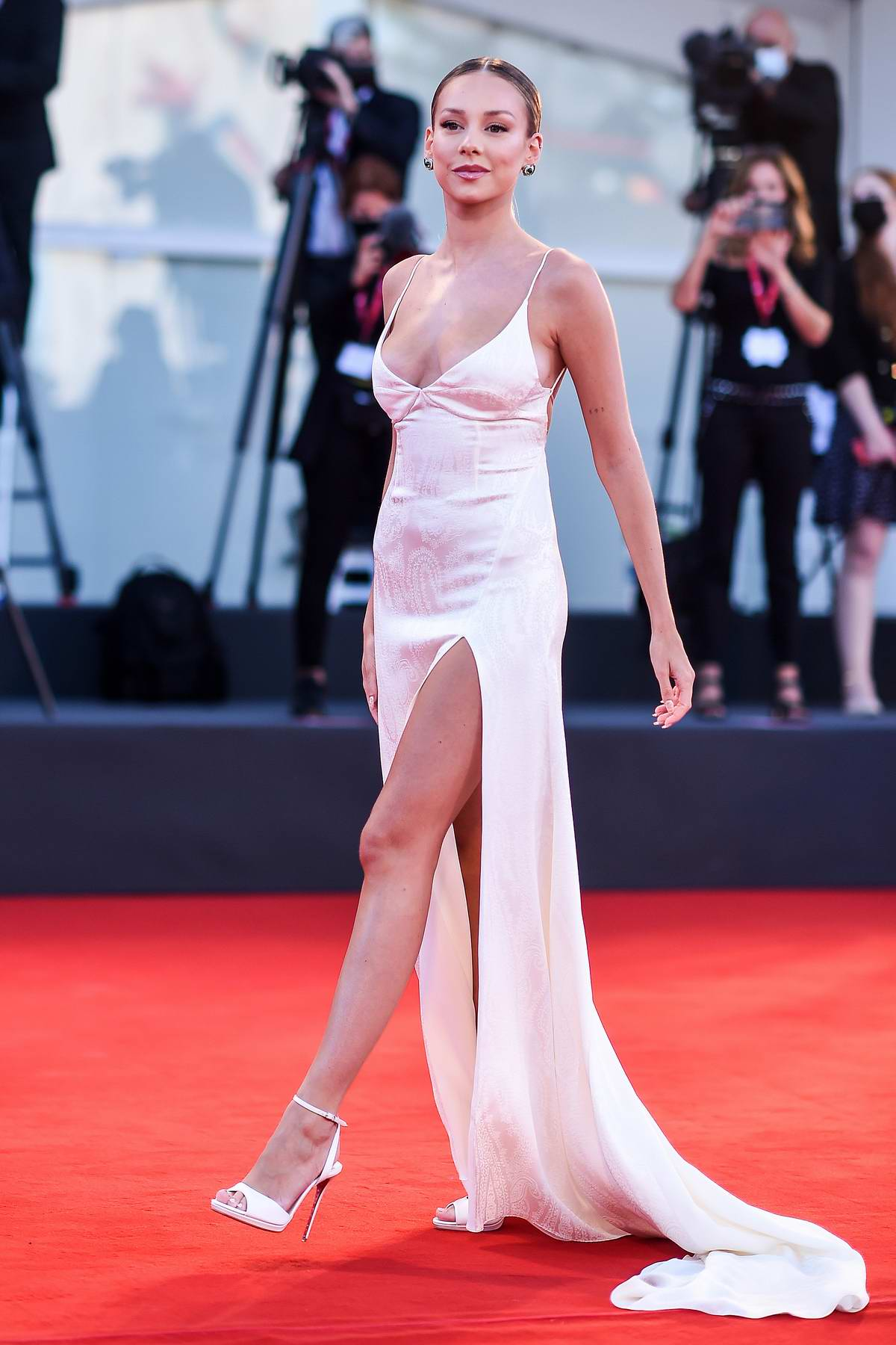 Ester Expósito attends the Opening Ceremony and 'The Ties' Premiere at the 77th Venice Film Festival in Venice, Italy