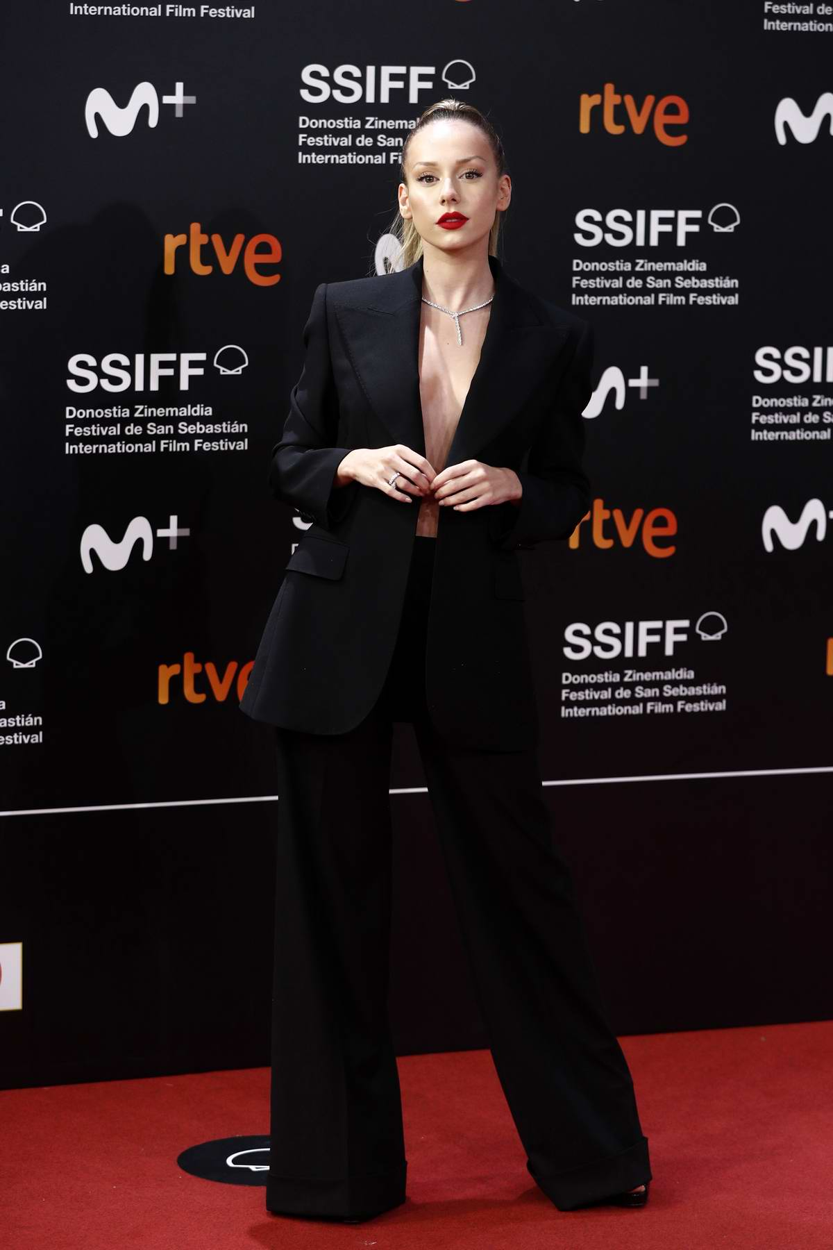 Ester Expósito attends the Premiere of 'Forgotten We'll Be' during the 68th San Sebastian Film Festival in San Sebastian, Spain