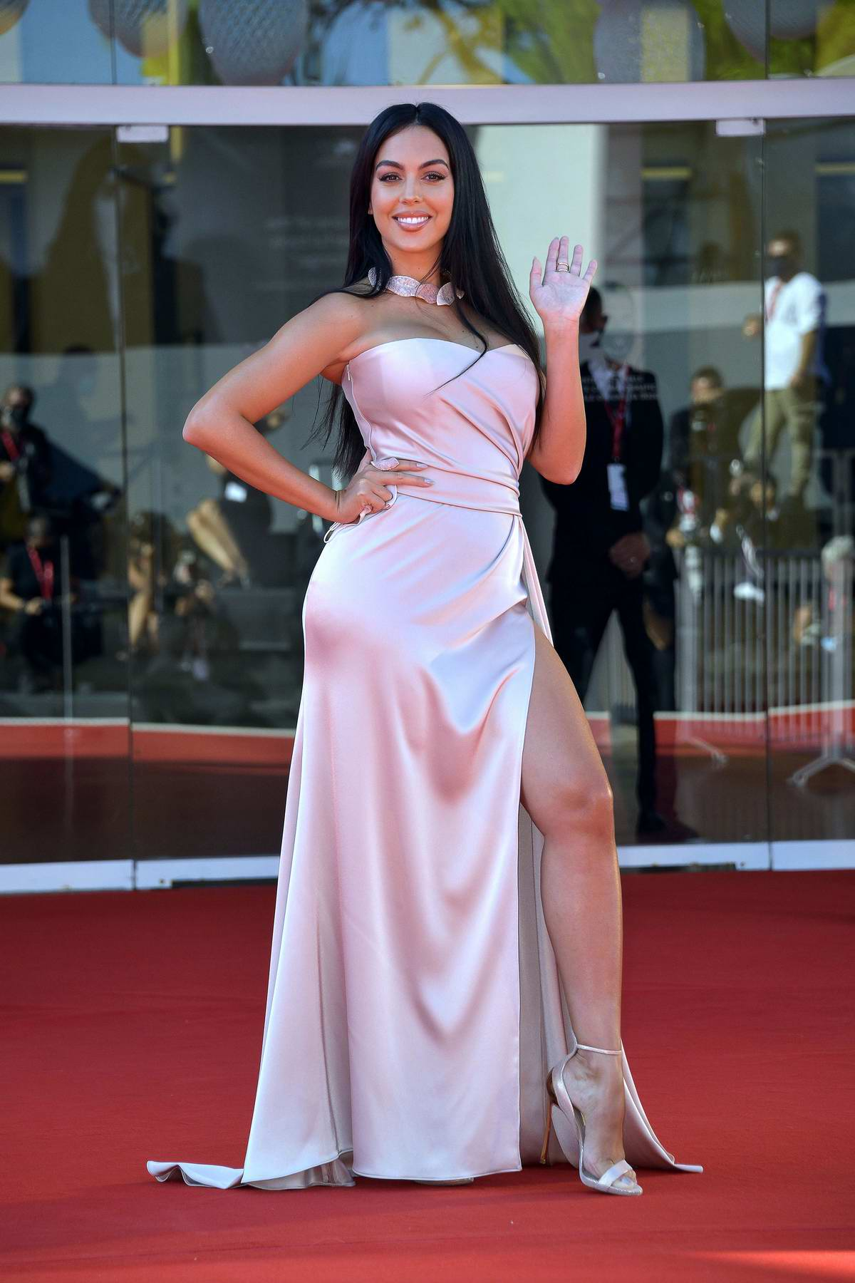 Georgina Rodriguez attends the Premiere of 'The Human Voice' during the 77th Venice Film Festival in Venice, Italy
