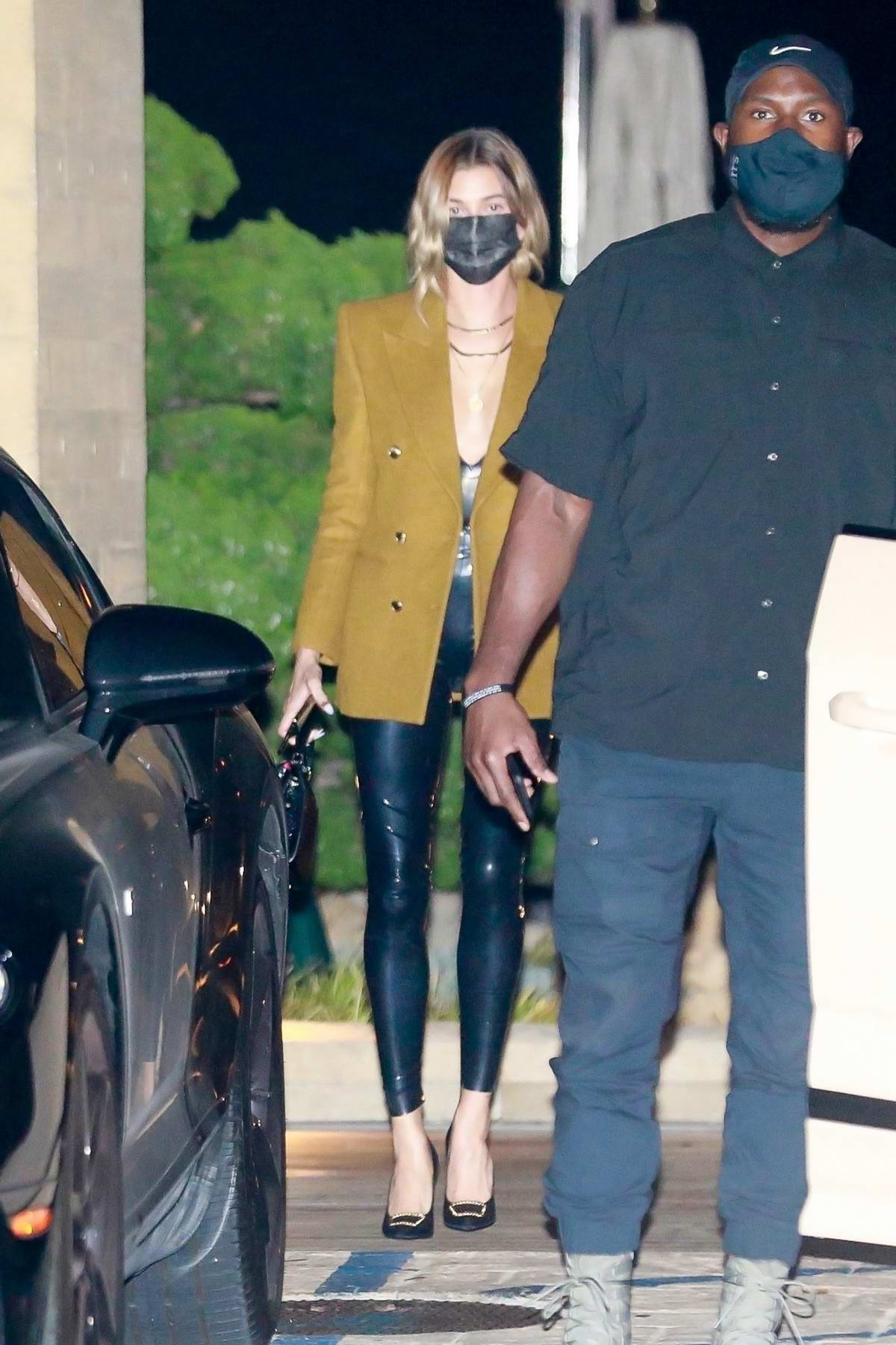 Hailey Bieber and Justin Bieber seen exiting Nobu after enjoying a dinner date in Malibu, California
