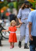 Irina Shayk meets up with fashion designer Zac Posen in New York City