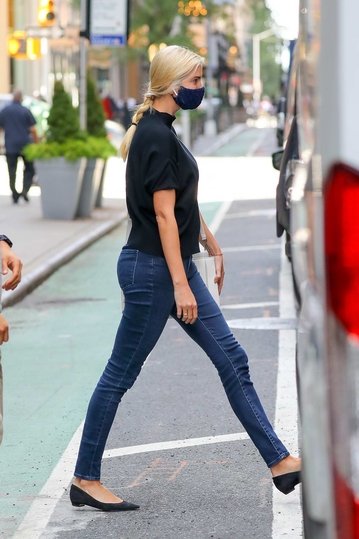 Ivanka Trump seen leaving an office building in New York City