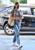 Jennifer Garner keeps it casual while visiting a spa in Brentwood, California