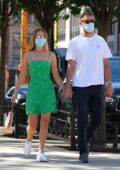 Jennifer Lawrence looks great in a green summer dress while out for lunch with husband Cooke Maroney in New York City