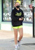 JoJo Siwa stops by an arts and crafts shop with a friend in Studio City, California