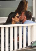 Jordana Brewster packs on some serious PDA with boyfriend Mason Morfit during a coffee date in Brentwood, California