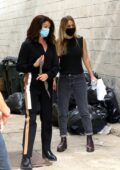 Kaley Cuoco spotted during scene in an alley on set of 'The Flight Attendant' in Long Island City, Queens, New York