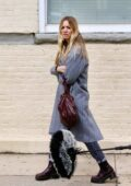 Kaley Cuoco spotted outside a police precinct while filming 'The Flight Attendant' in New York City