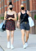 Kaley Cuoco steps out for some shopping with her sister Briana in SoHo, New York