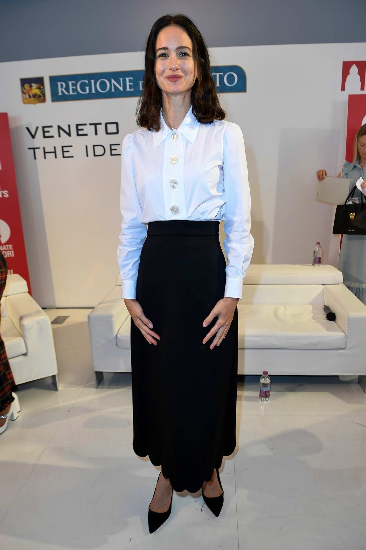 Katherine Waterson attends the Miu Miu Woman's Tales Press Conference during the 77th Venice Film Festival in Venice, Italy
