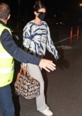 Kendall Jenner and Hailey Bieber seen arriving at the airport after attending Milan Fashions Week in Milan, Italy