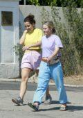 Kristen Bell visits one of her properties with a girlfriend in Los Feliz, California