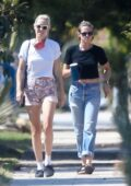 Kristen Stewart visits a friend with girlfriend Dylan Meyer in Los Feliz, California