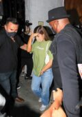 Kylie Jenner attends a TikTok party with Zack Bia at 40 Love in West Hollywood, California