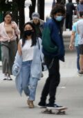Lana Condor and Noah Centineo spotted going out for dinner in Vancouver, Canada