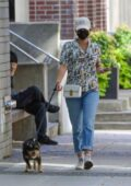 Lili Reinhart steps out to walk her dog after completing a 14-day mandatory quarantine in Vancouver, Canada