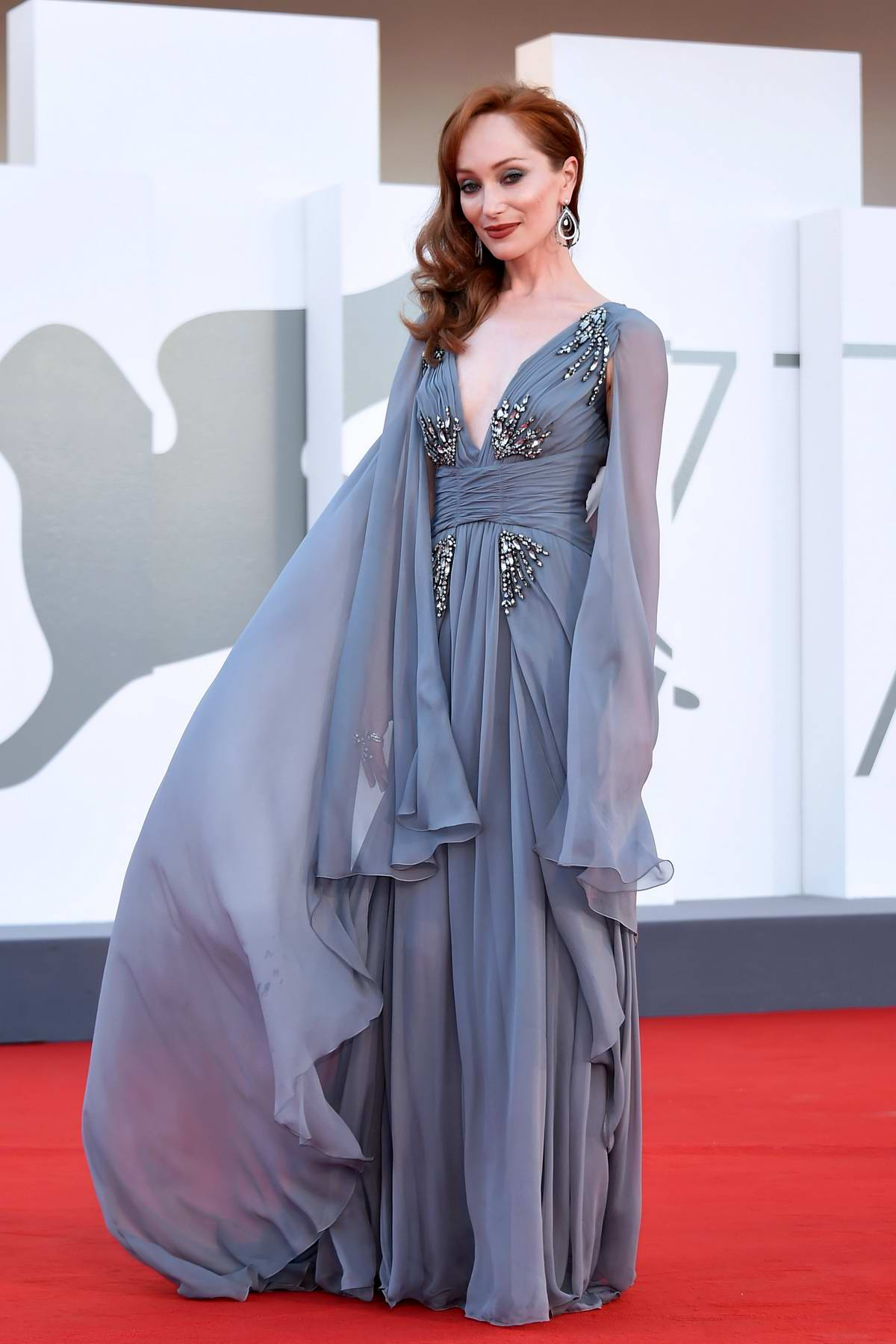 Lotte Verbeek attends the Opening Ceremony and 'The Ties' Premiere at the 77th Venice Film Festival 2020 in Venice, Italy