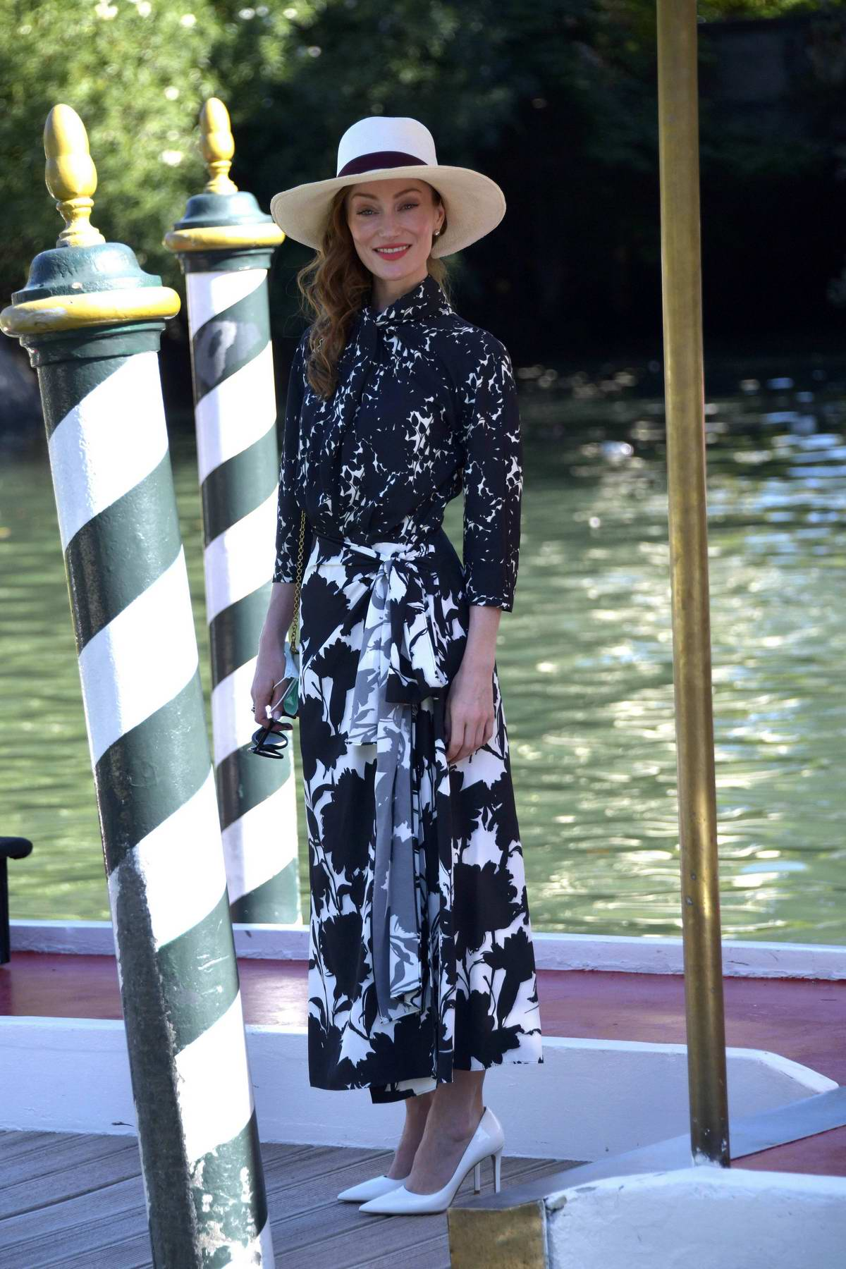 Lotte Verbeek poses for photos at the 77th Venice Film Festival in Venice, Italy