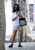Lucy Hale looks cute in striped shorts while making a routine visit to the Doctor's office in Los Angeles