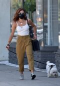 Lucy Hale shows her new hair color while out for lunch with a friend at Sweet Butter in Sherman Oaks, California