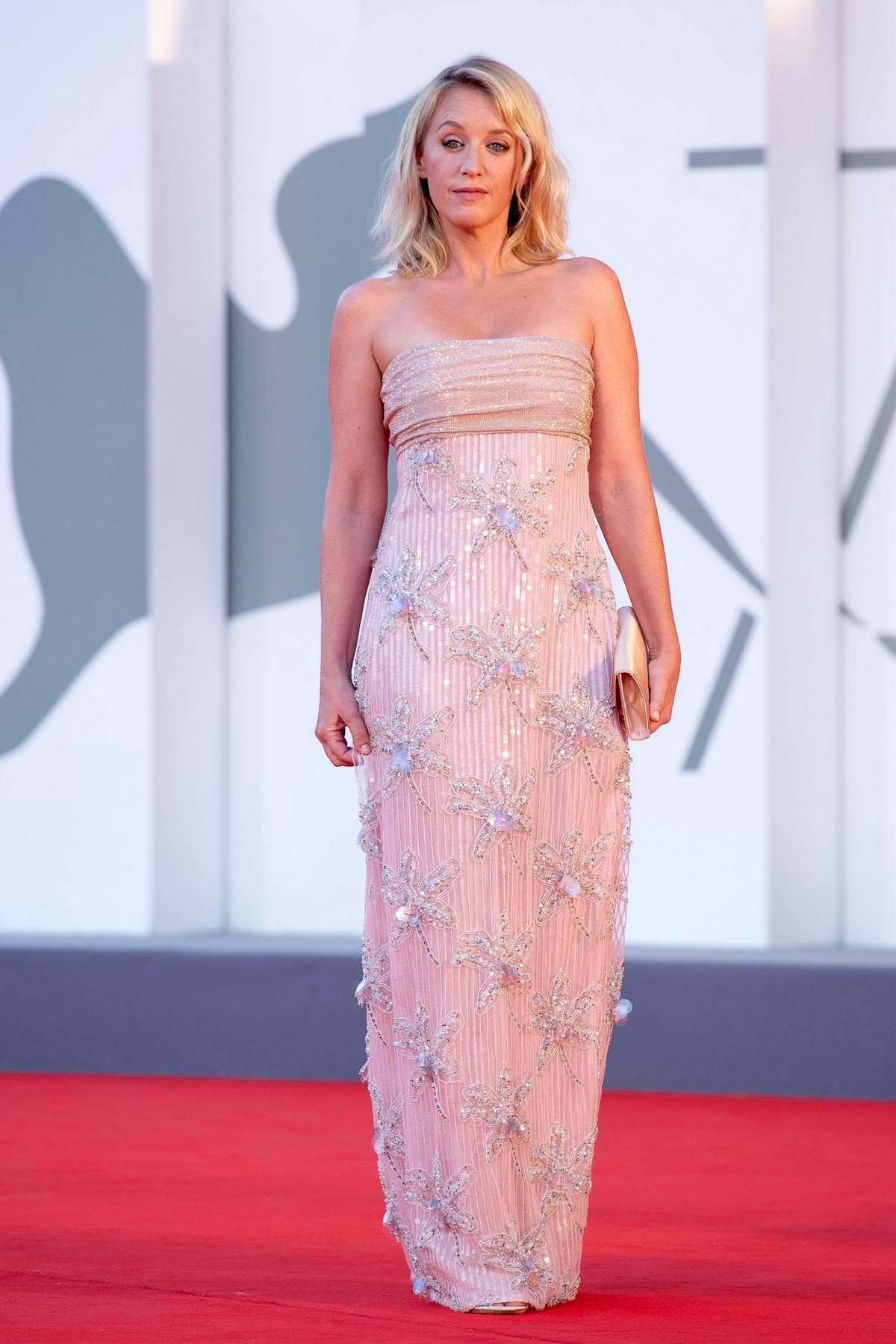 Ludivine Sagnier attends the Premiere of 'The World to Come' during the 77th Venice Film Festival in Venice, Italy