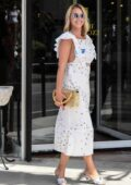 Ludivine Sagnier seen leaving her hotel during the 77th Venice Film Festival in Venice, Italy
