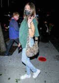 Madison Beer stays low key while leaving dinner at BOA in Hollywood, California