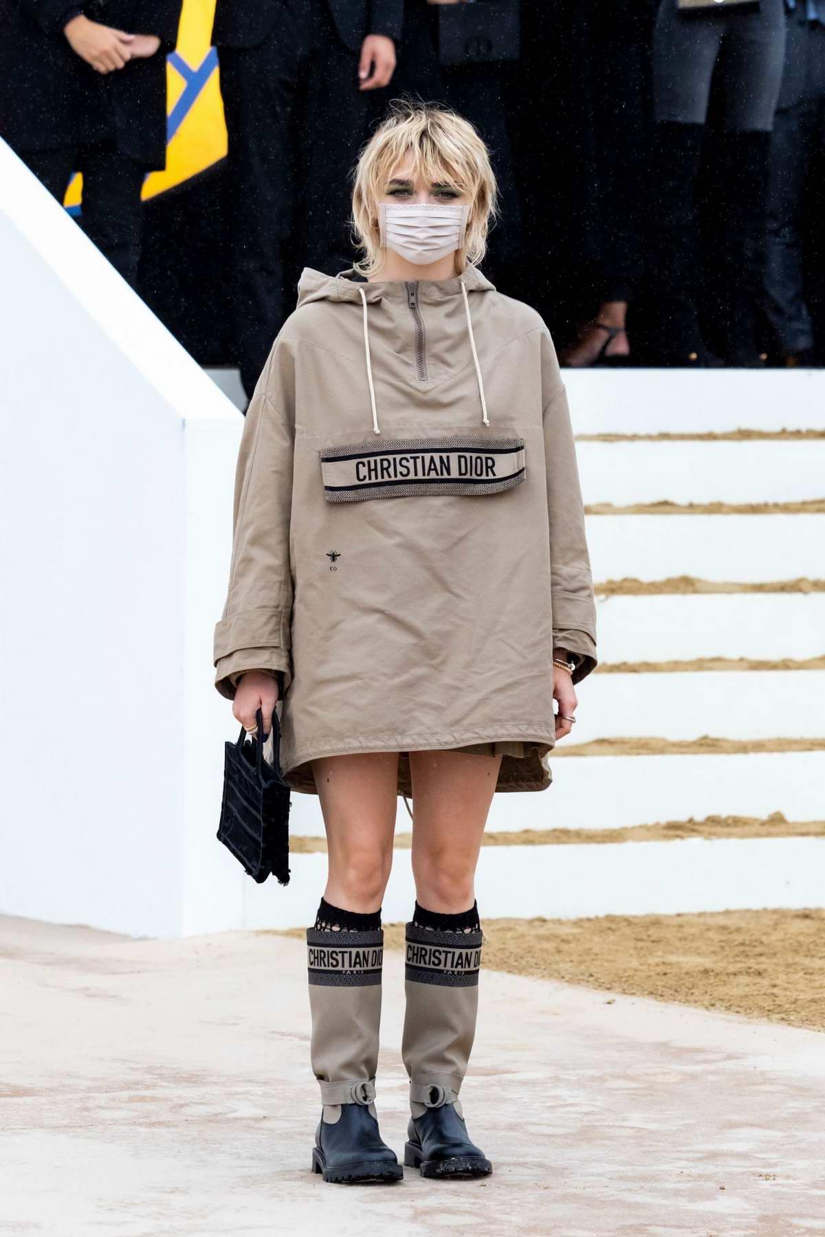 Maisie Williams attends the Dior Womenswear Spring-Summer 2021 show during Paris Fashion Week in Paris, France