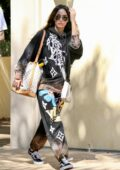 Megan Fox sports trendy sweats as she and Machine Gun Kelly leaves his house in Los Angeles
