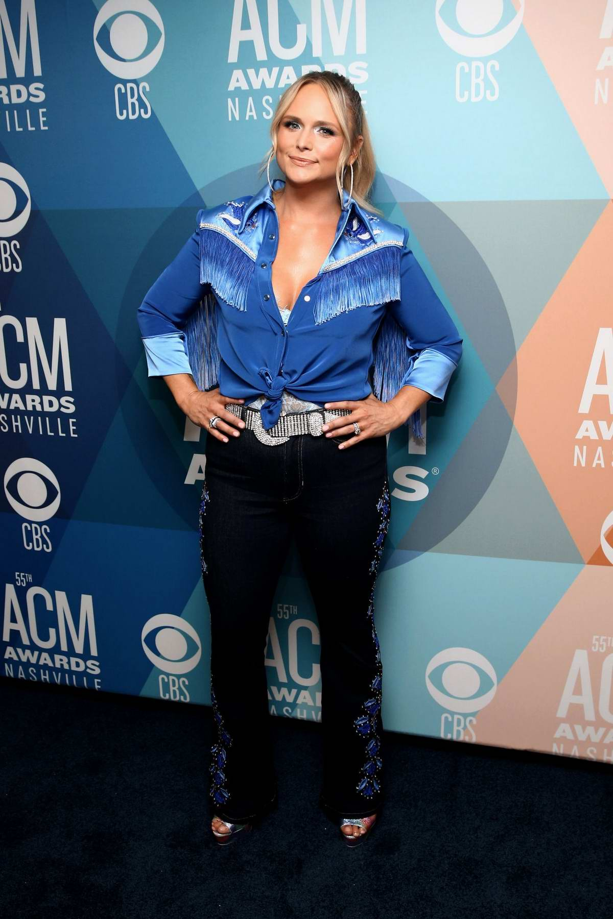Miranda Lambert attends the 55th Academy of Country Music Awards at the Bluebird Cafe in Nashville, Tennessee