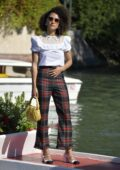 Nathalie Emmanuel looks stylish as she arrives at Excelsior during the 77th Venice Film Festival in Venice, Italy