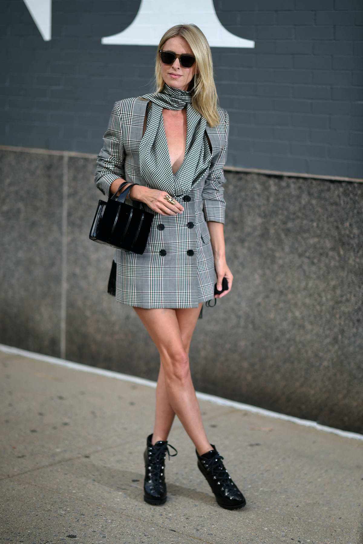 Nicky Hilton attends the Monse Fall-Winter 2020 Presentation during New York Fashion Week in New York City