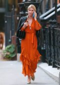 Nicky Hilton looks stylish in bright orange dress as she steps out in New York City