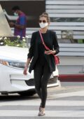 Nina Dobrev seen while returning some Louis Vuitton merchandise on Rodeo Drive in Beverly Hills, California