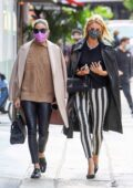 Olivia Palermo and Nicky Hilton enjoy lunch together at Sant Ambroeus in New York City