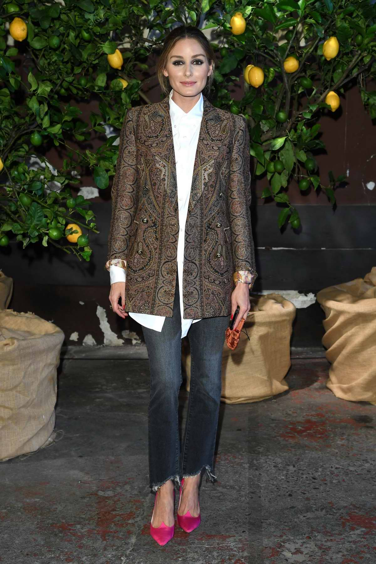 Olivia Palermo attends the Etro fashion show during the Milan Fashion Week in Milan, Italy